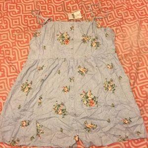 Plus Size Flowers Mini Dress